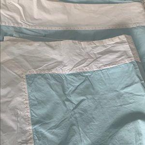 Queen light blue duvet cover and shams